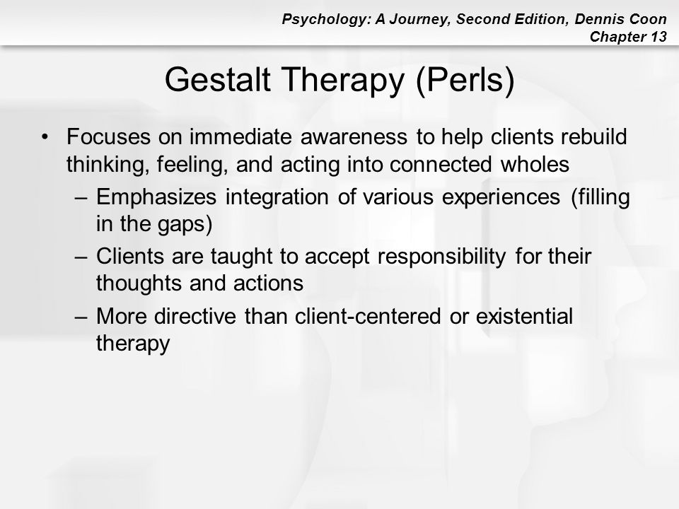 Gestalt Therapy (Perls)