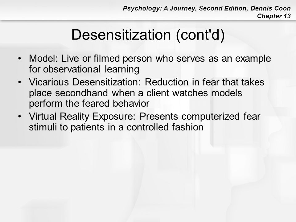 Desensitization (cont d)