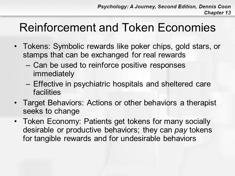 Reinforcement and Token Economies