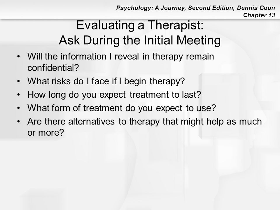 Evaluating a Therapist: Ask During the Initial Meeting