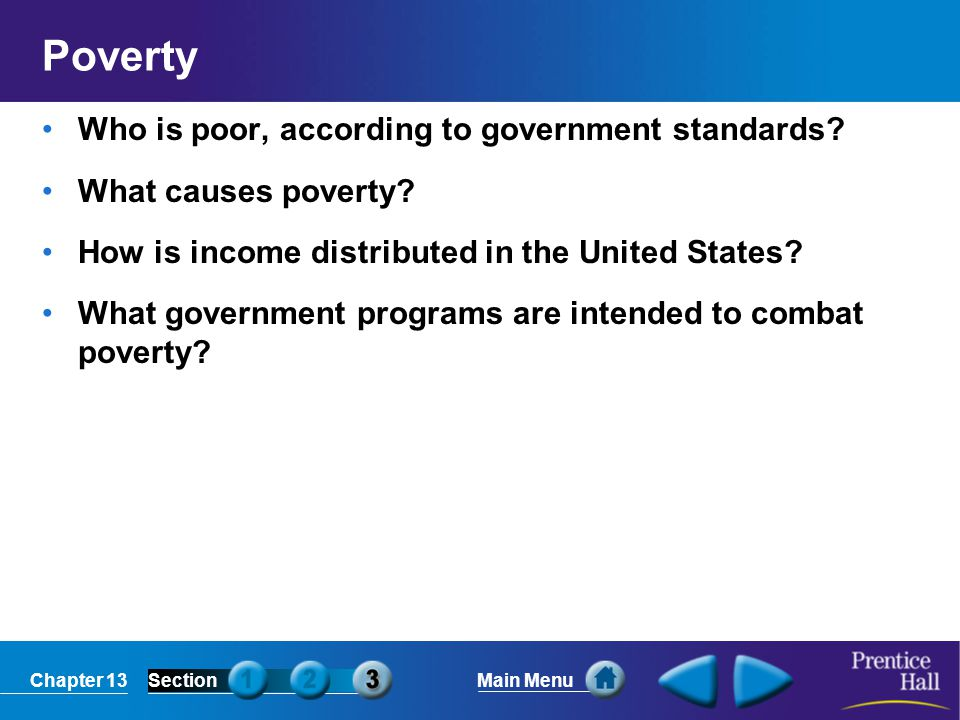Poverty Who is poor, according to government standards