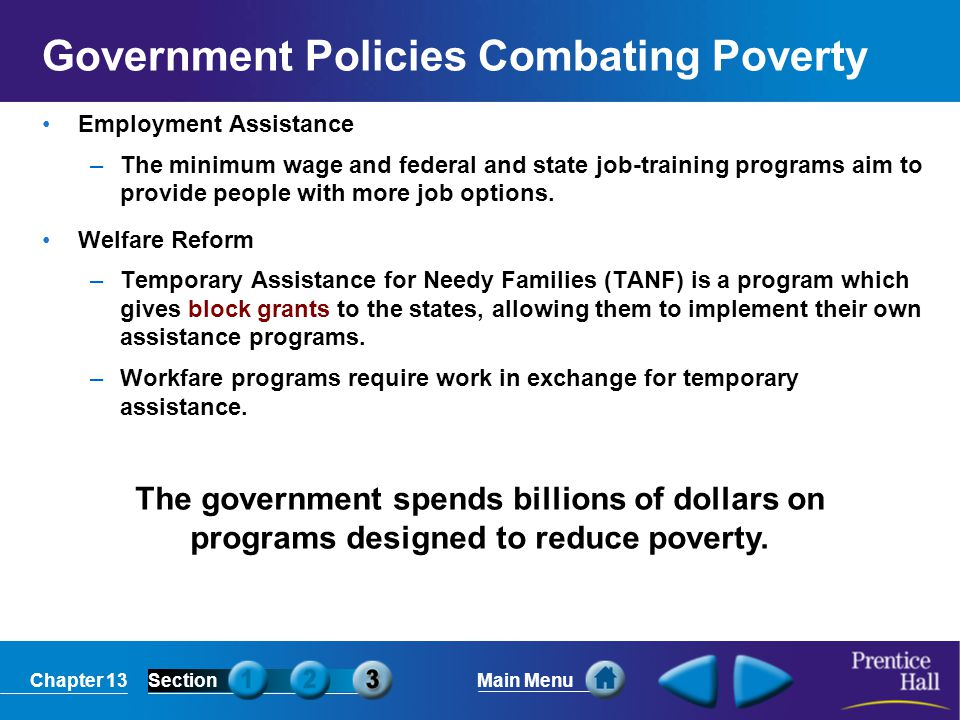 Government Policies Combating Poverty