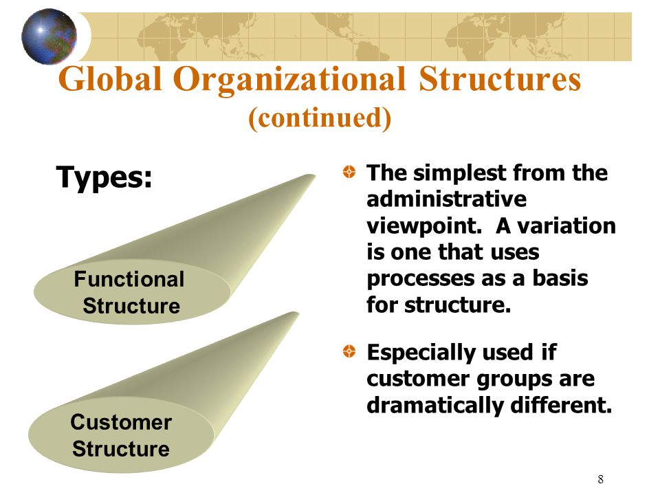 Global Organizational Structures (continued)