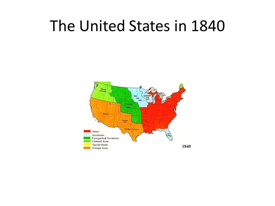 The United States in 1840