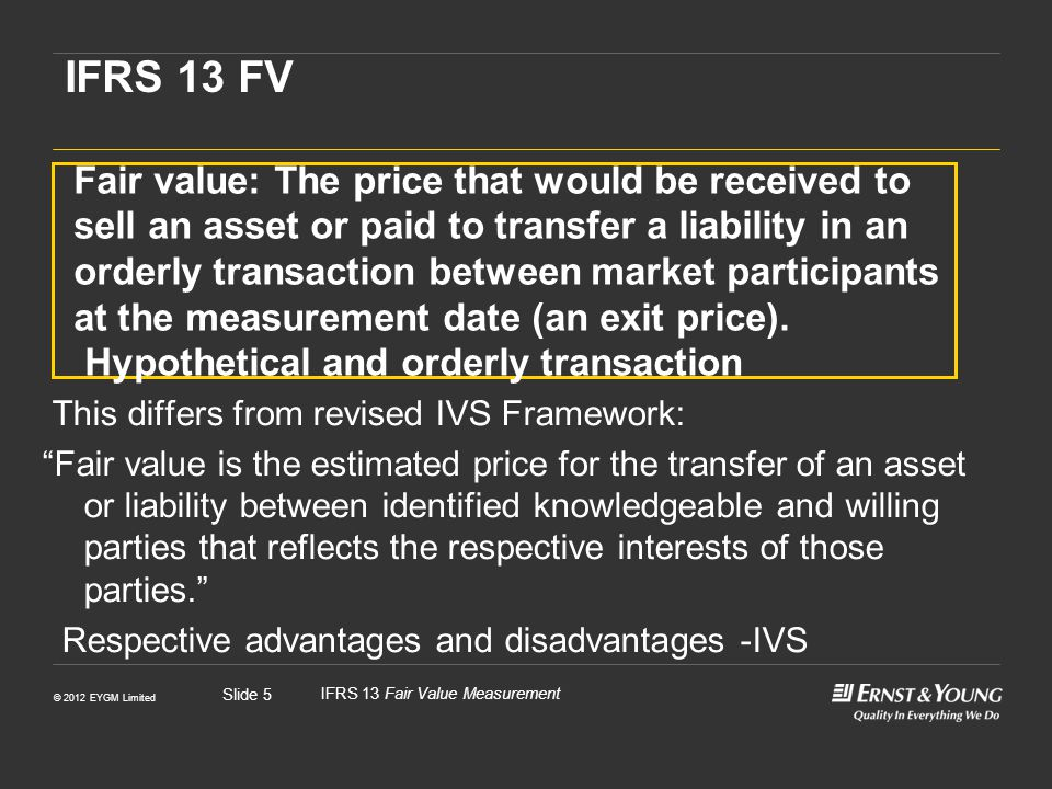IFRS 13 FV