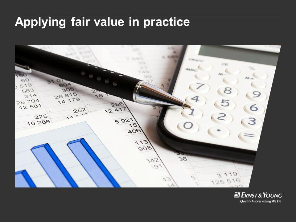 Applying fair value in practice