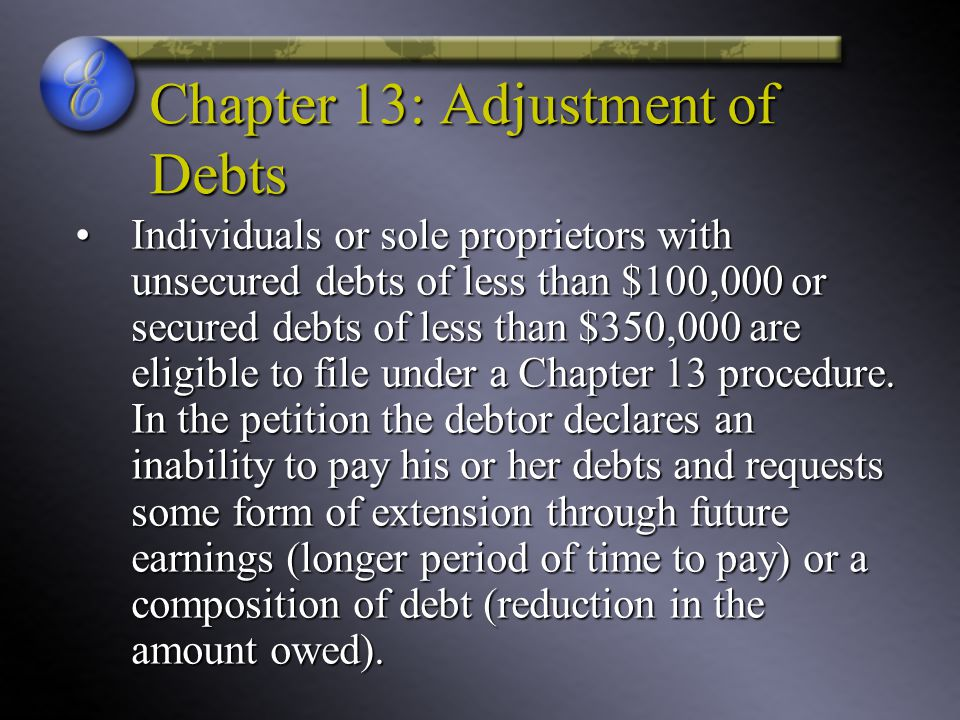 Chapter 13: Adjustment of Debts
