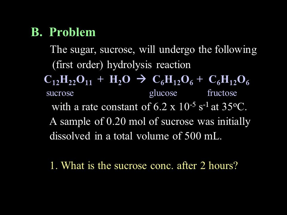 The sugar, sucrose, will undergo the following