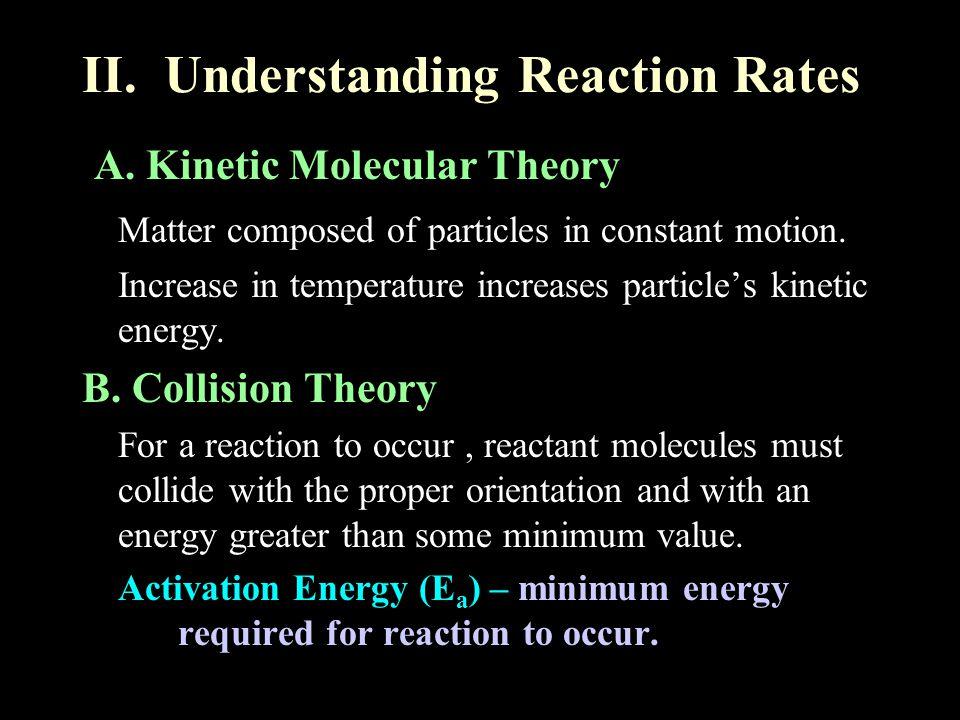 II. Understanding Reaction Rates