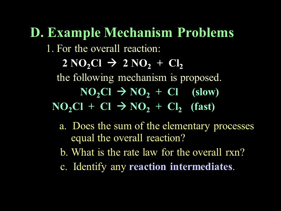 D. Example Mechanism Problems