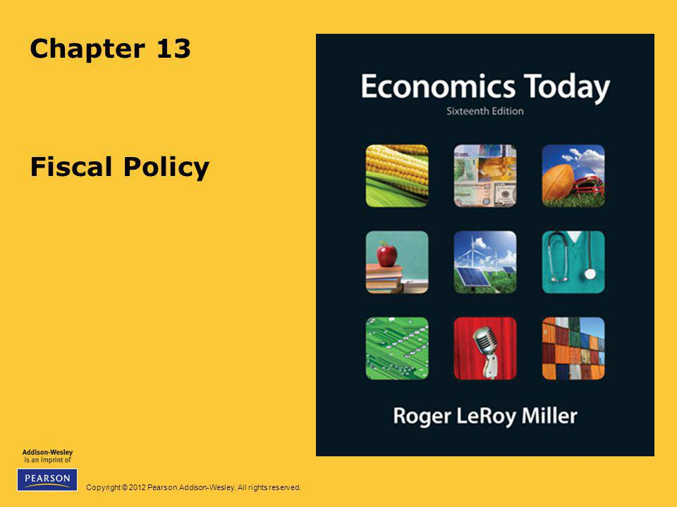 Chapter 13 Fiscal Policy