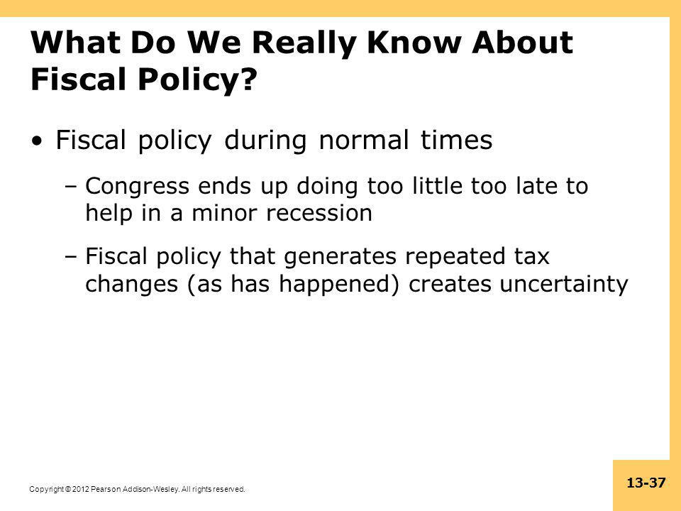 What Do We Really Know About Fiscal Policy