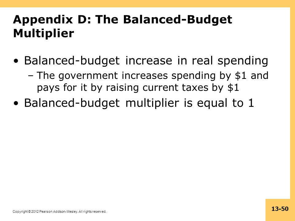 Appendix D: The Balanced-Budget Multiplier