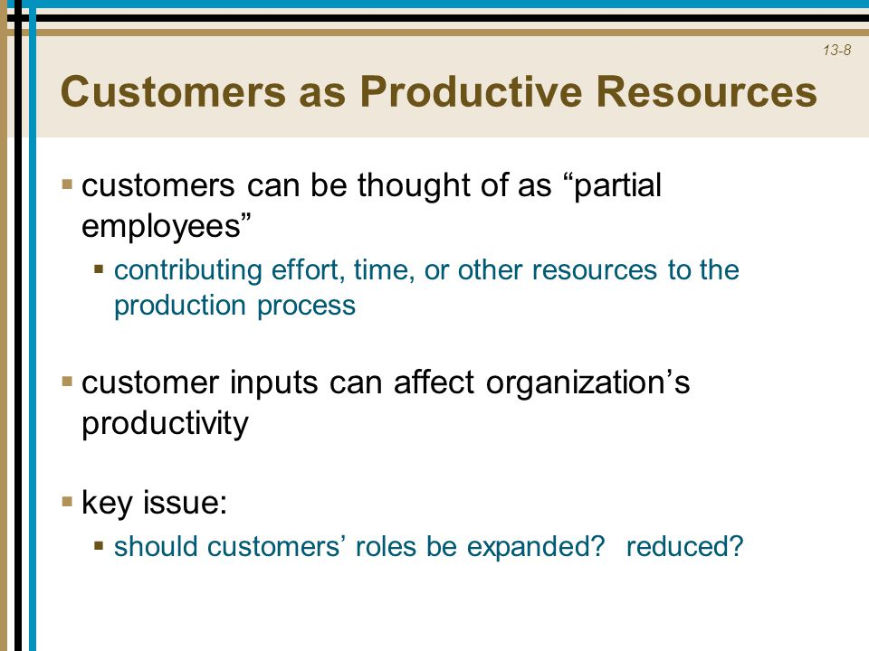 Customers as Productive Resources