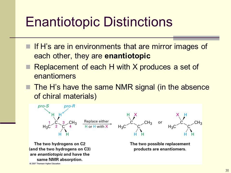 Enantiotopic Distinctions
