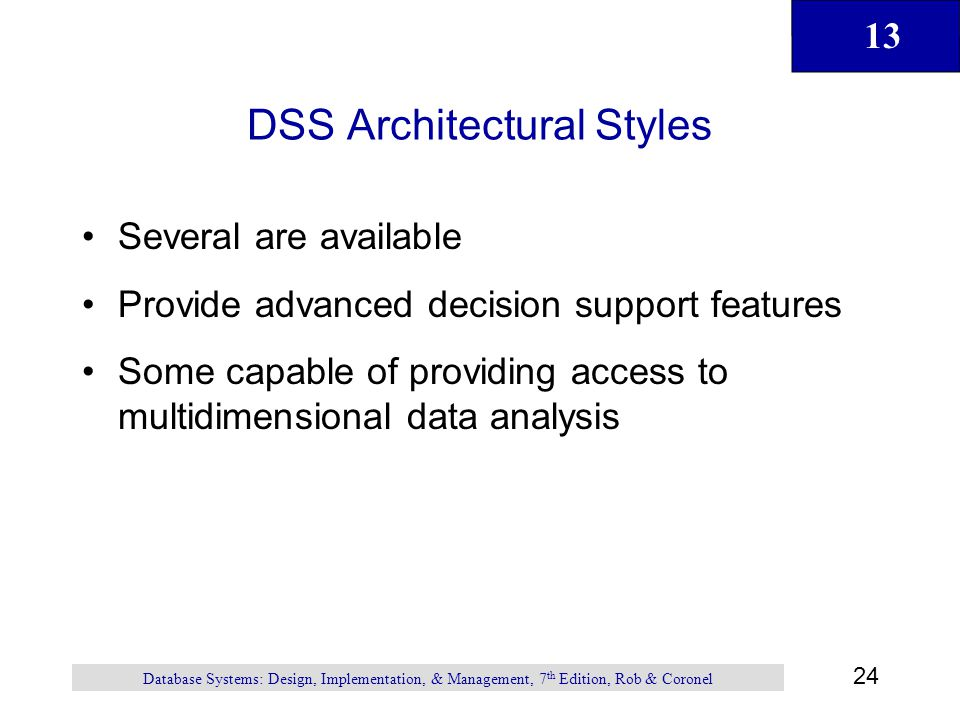 DSS Architectural Styles