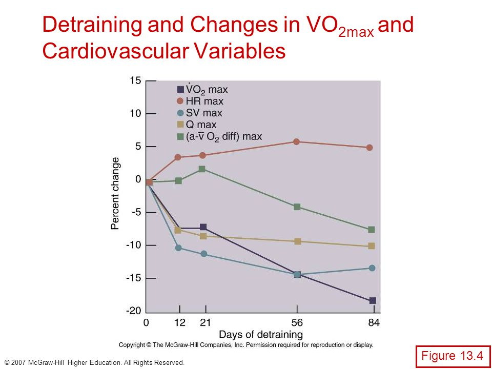 Detraining and Changes in VO2max and Cardiovascular Variables