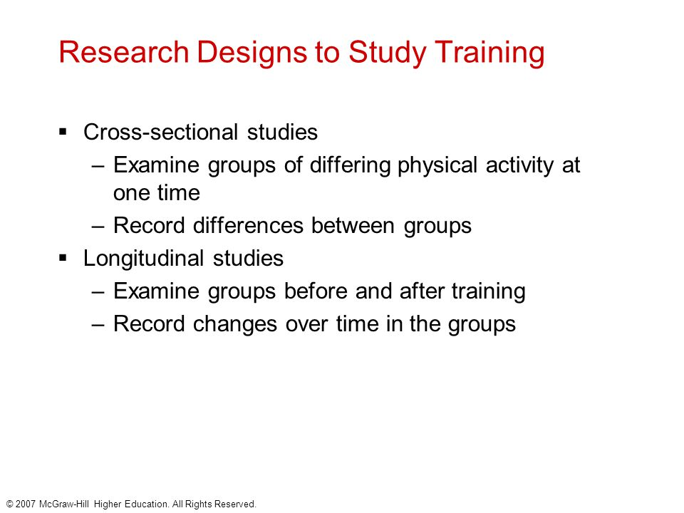 Research Designs to Study Training