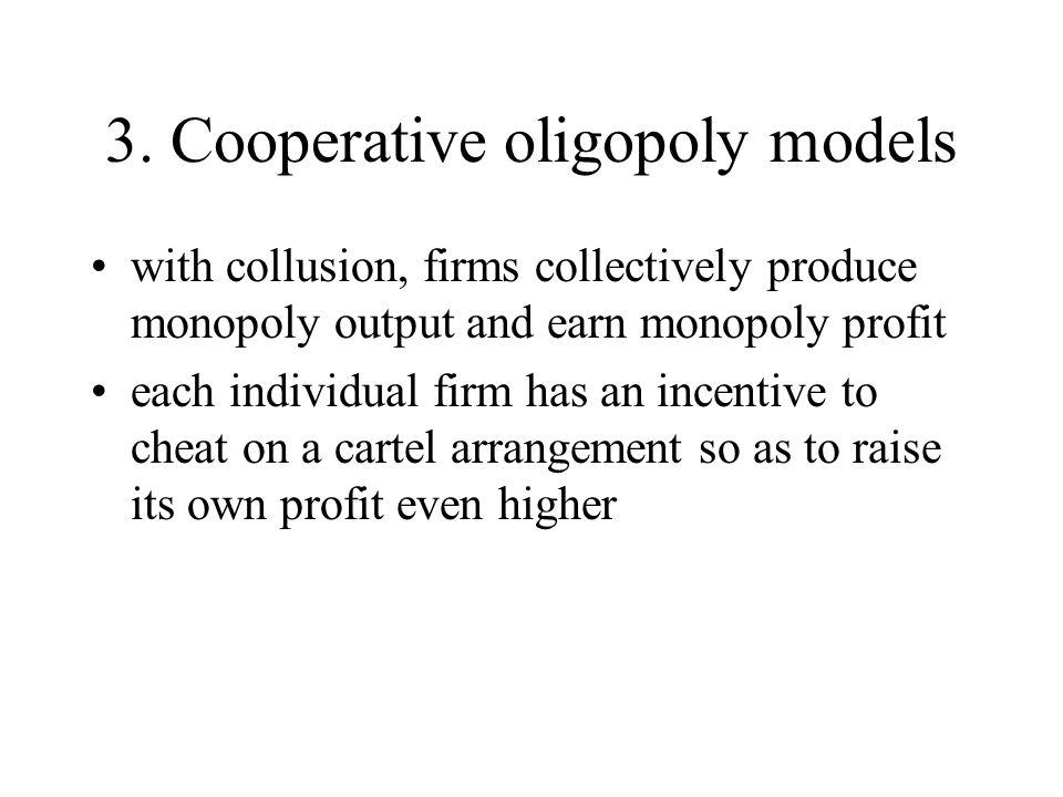 3. Cooperative oligopoly models