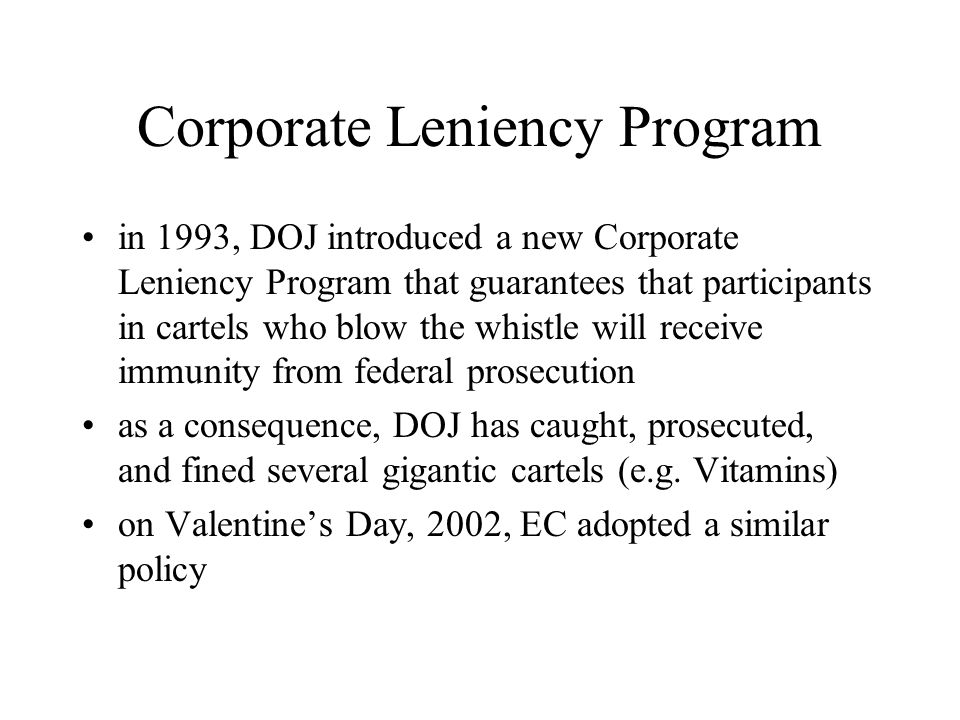 Corporate Leniency Program
