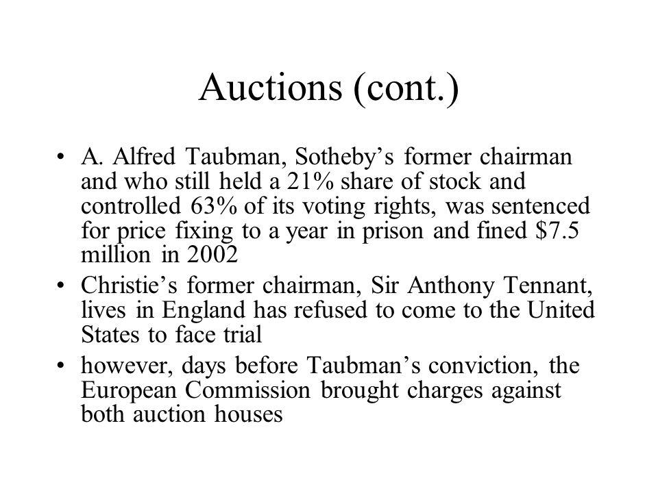 Auctions (cont.)