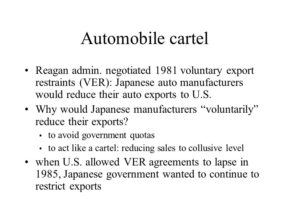 Automobile cartel