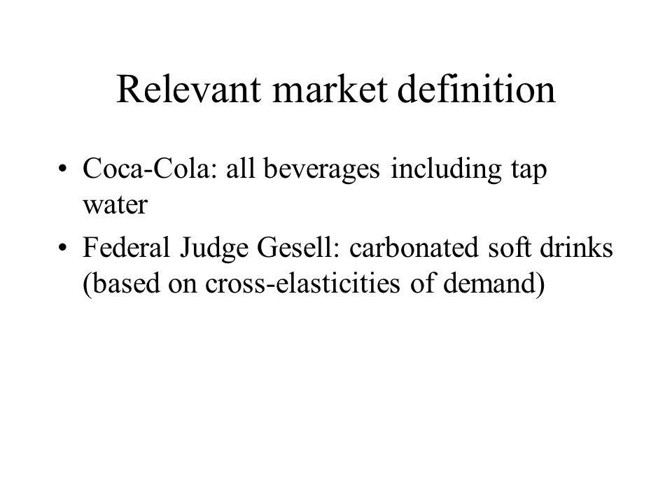 Relevant market definition