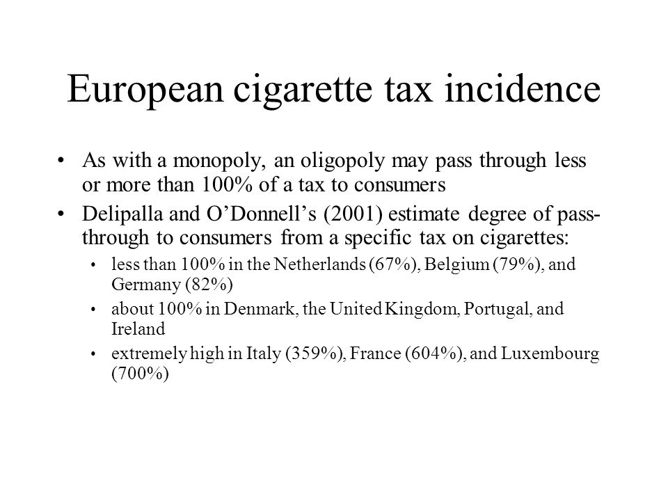 European cigarette tax incidence