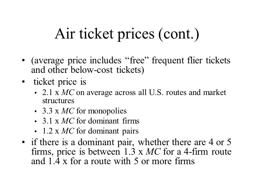Air ticket prices (cont.)