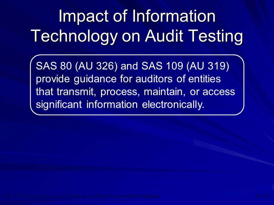 Impact of Information Technology on Audit Testing