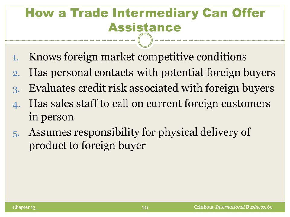 How a Trade Intermediary Can Offer Assistance