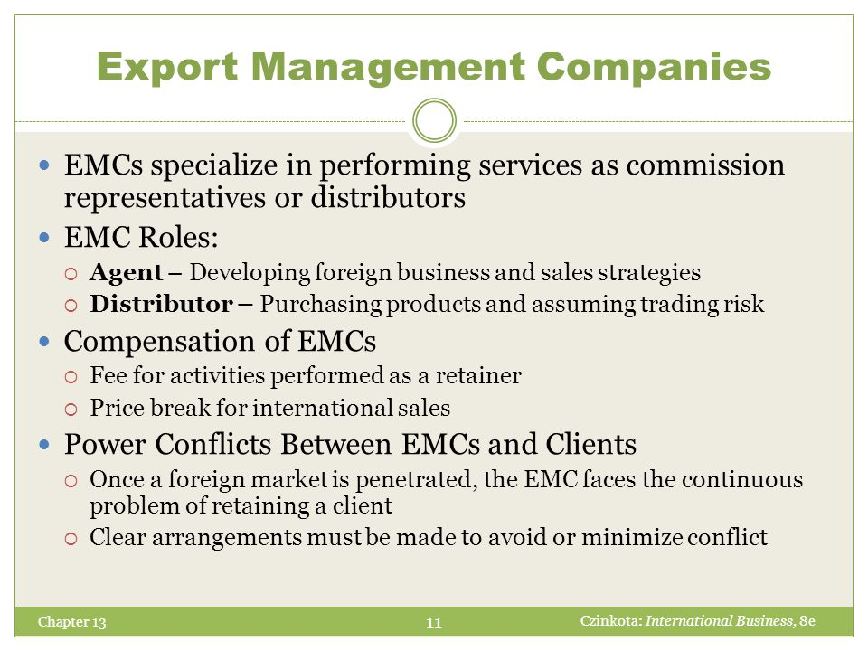 Export Management Companies
