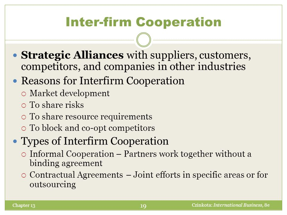 Inter-firm Cooperation