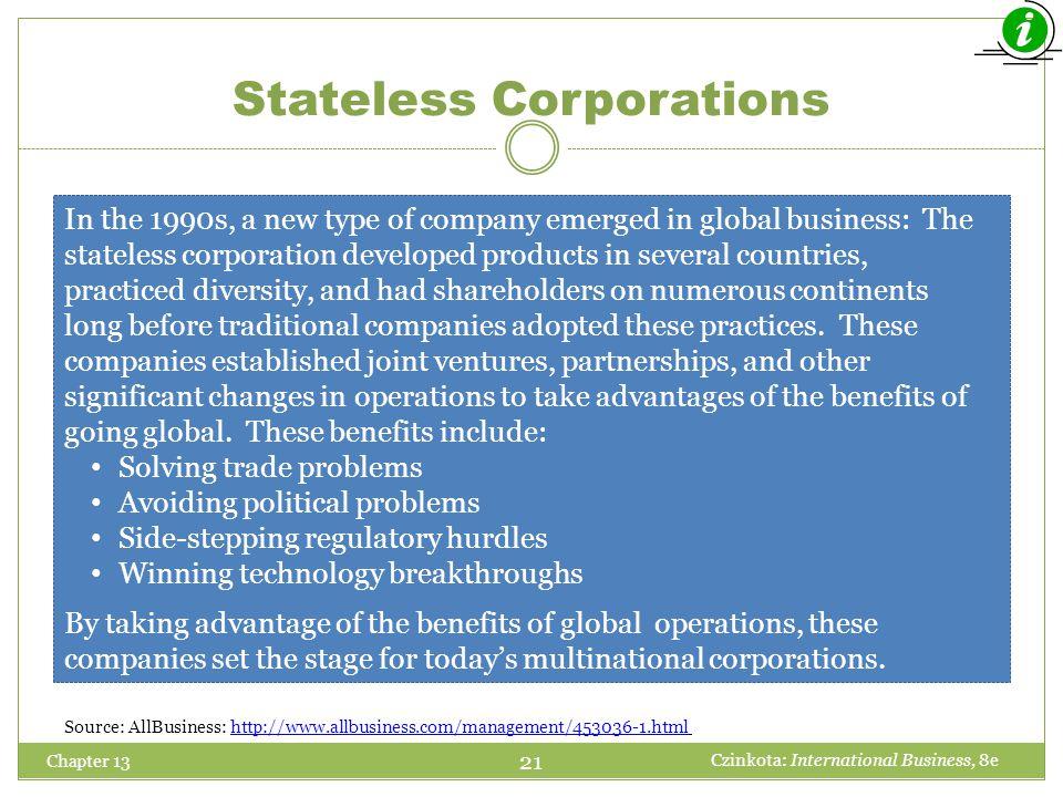 Stateless Corporations