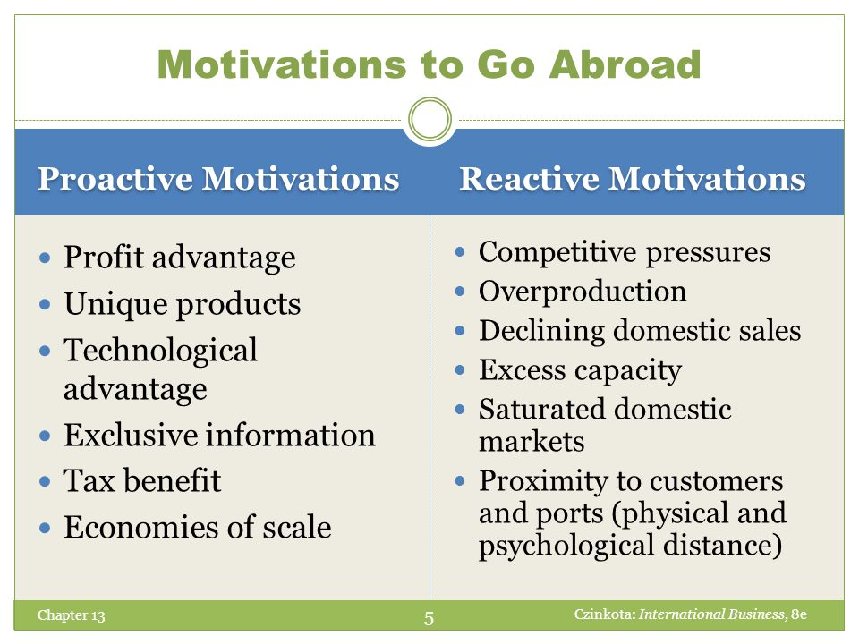 Motivations to Go Abroad