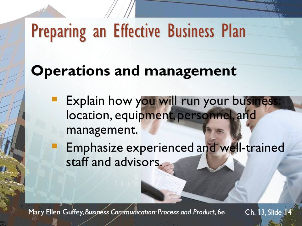Preparing an Effective Business Plan