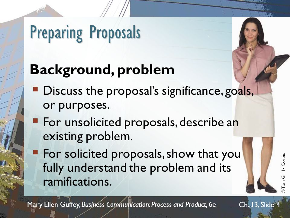 Preparing Proposals Background, problem
