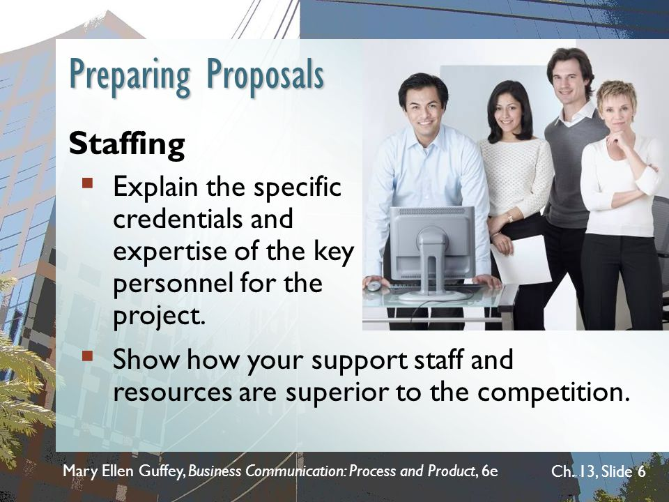 Preparing Proposals Staffing
