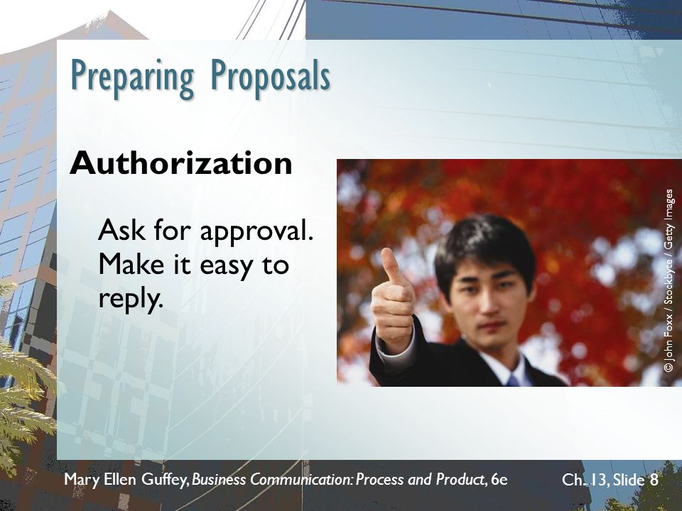 Preparing Proposals Authorization