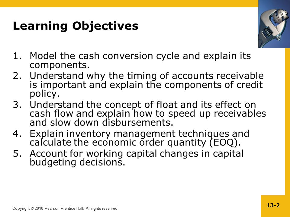 Learning Objectives Model the cash conversion cycle and explain its components.