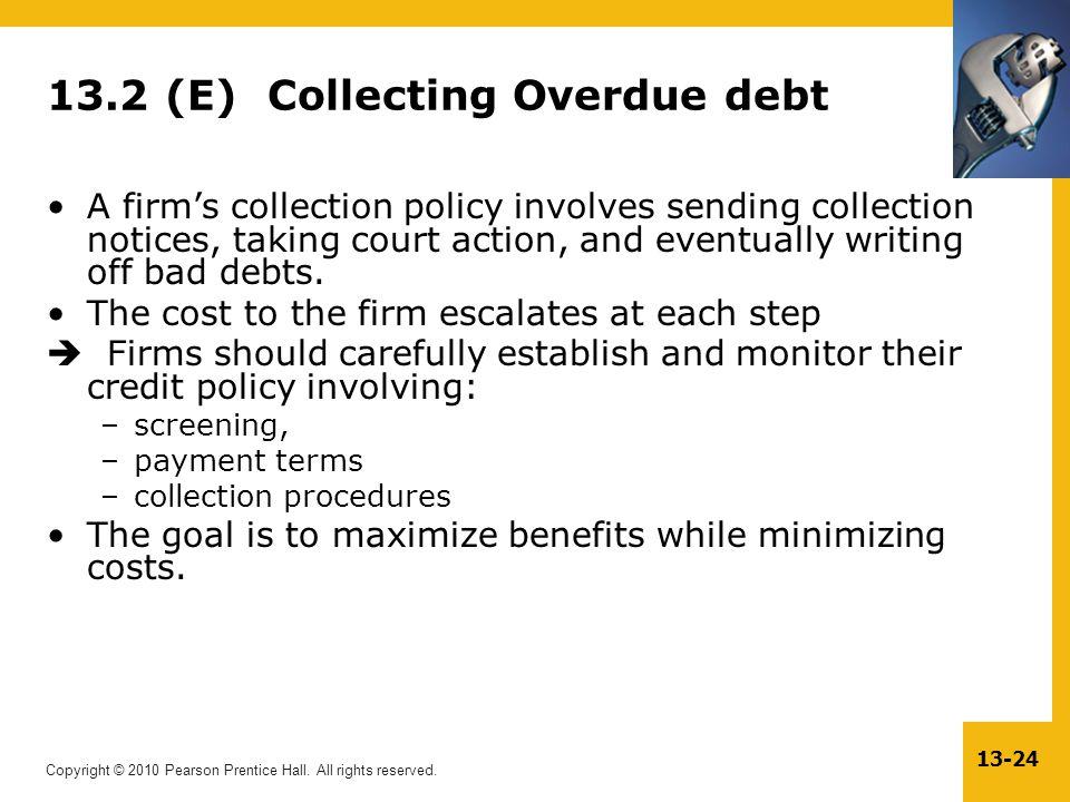 13.2 (E) Collecting Overdue debt