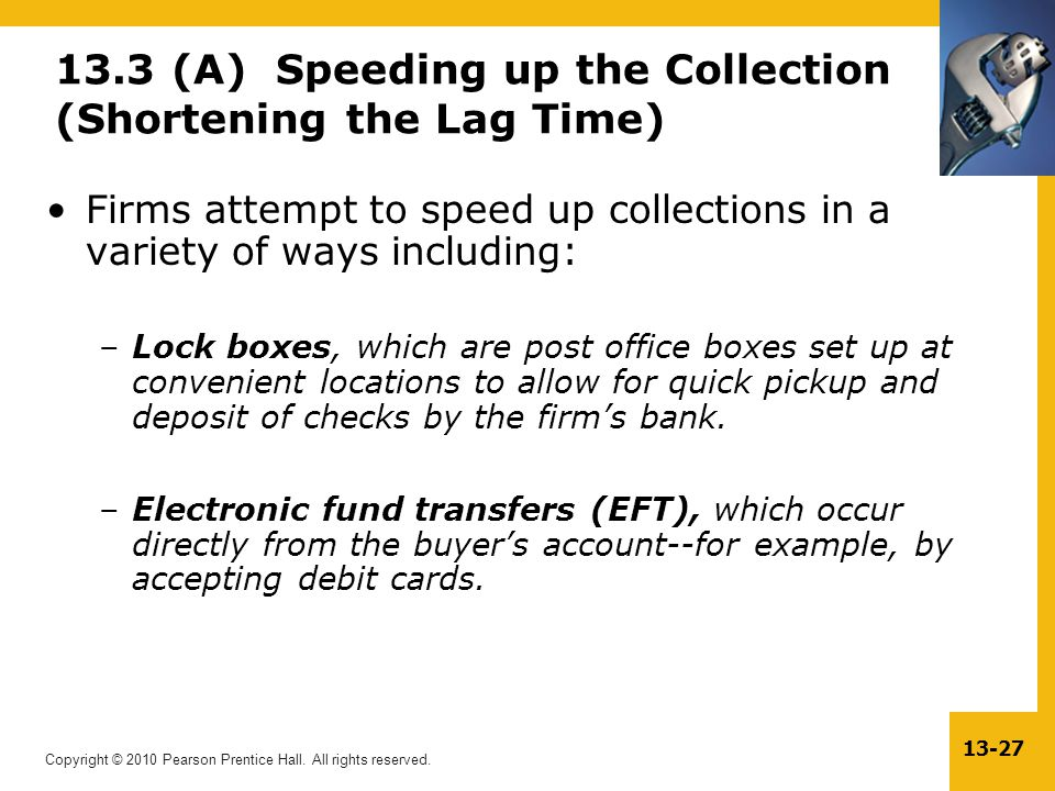 13.3 (A) Speeding up the Collection (Shortening the Lag Time)