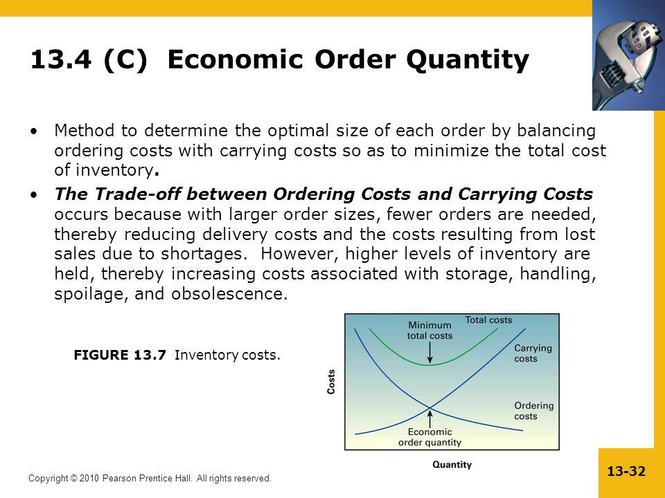 13.4 (C) Economic Order Quantity