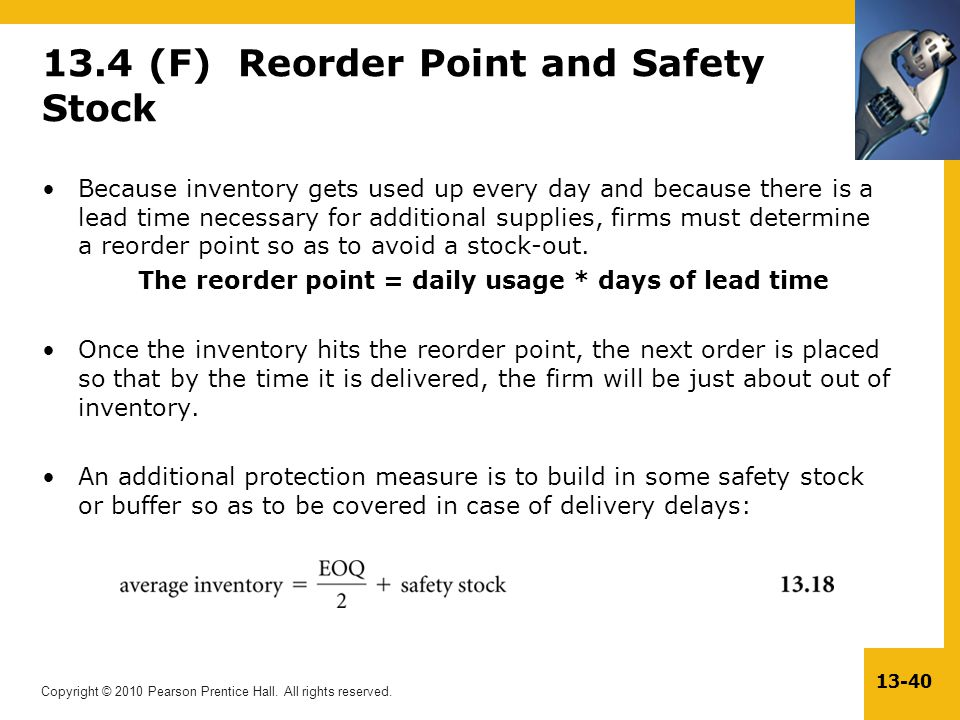13.4 (F) Reorder Point and Safety Stock
