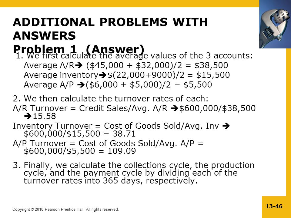 ADDITIONAL PROBLEMS WITH ANSWERS Problem 1 (Answer)