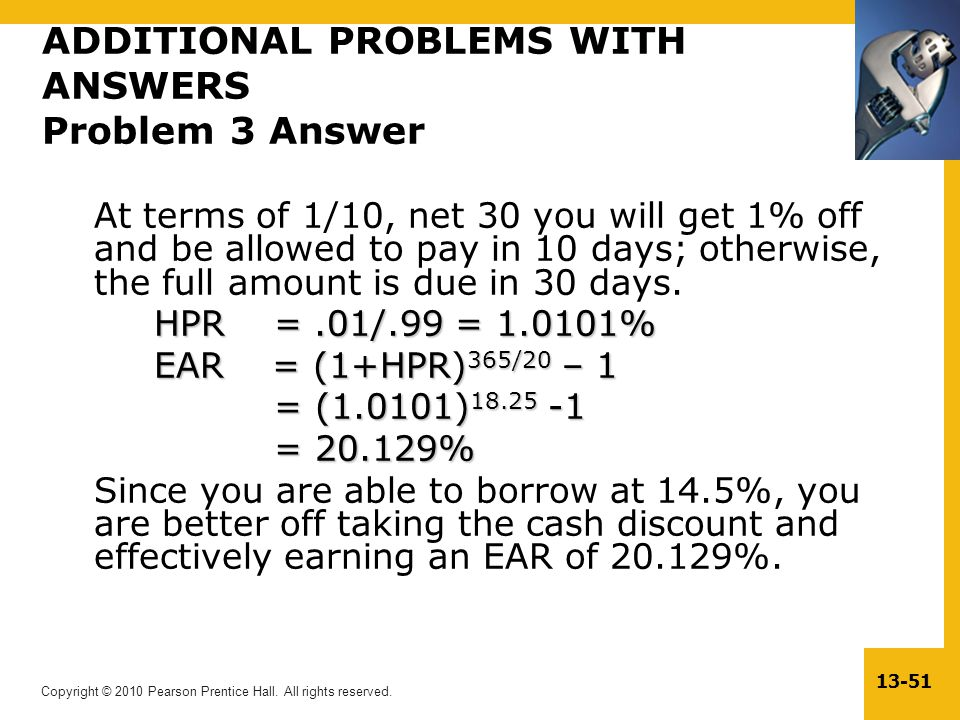 ADDITIONAL PROBLEMS WITH ANSWERS Problem 3 Answer