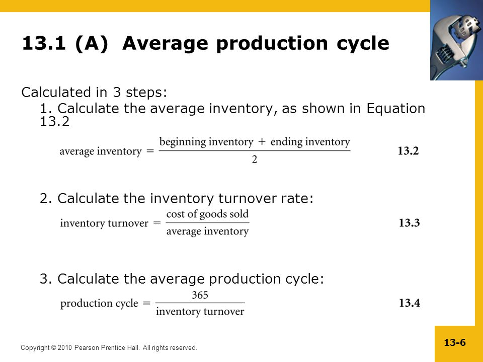 13.1 (A) Average production cycle