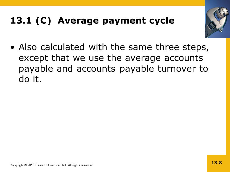 13.1 (C) Average payment cycle