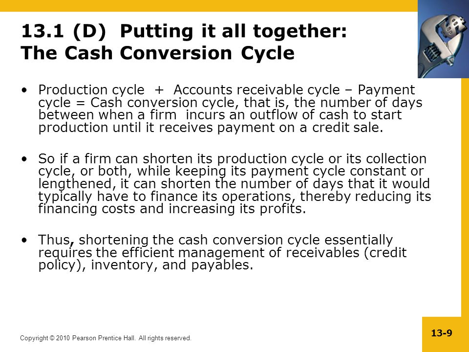 13.1 (D) Putting it all together: The Cash Conversion Cycle