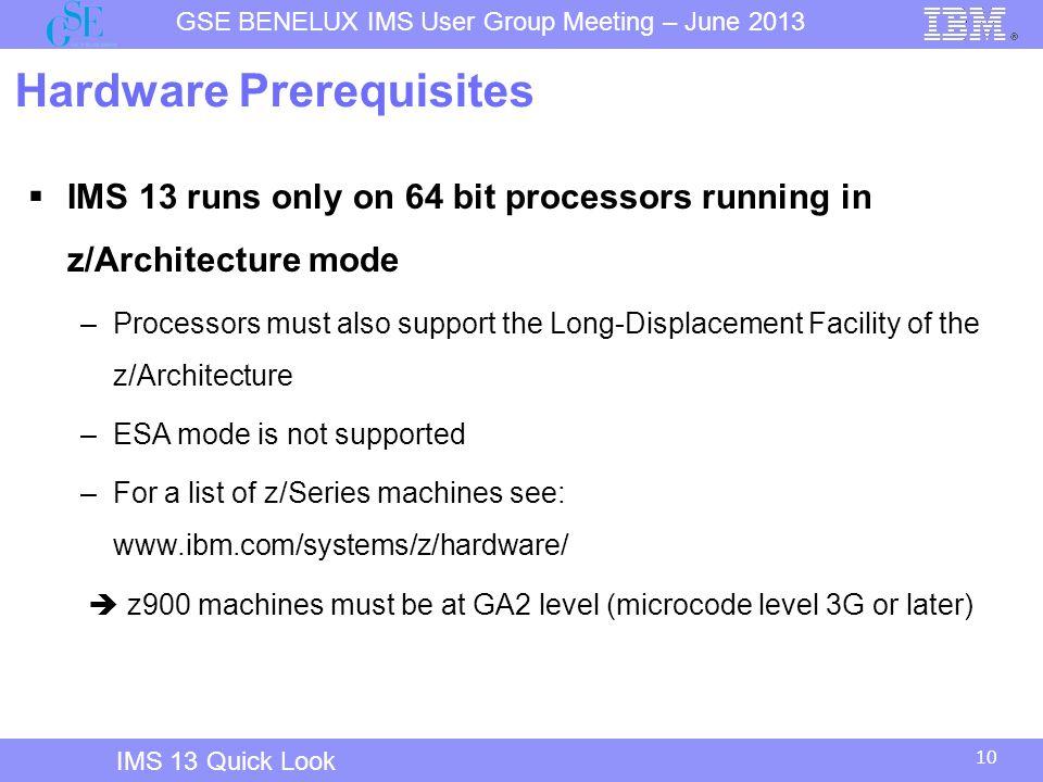 Hardware Prerequisites